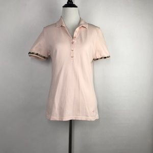 Burberry Brit Collared Women's Pink Polo Shirt
